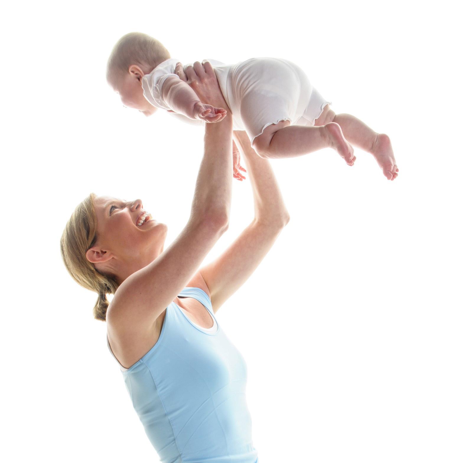 Mit dem Baby zurück zur Figur